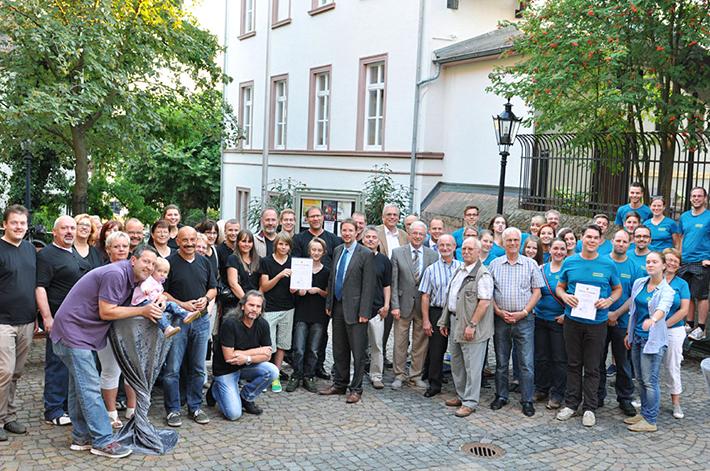 Großer Empfang in Gelnhausen