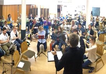 Das Stammorchester bei der Probe